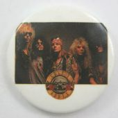 Guns N'Roses - 'Group White' Vintage 32mm Badge